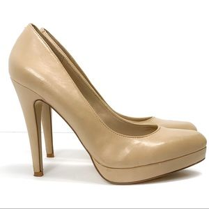 ALDO | Women's Nude Leather Pumps Size Size 9